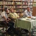 Balról jobbra: Dr. Szenyéri Zoltán a Dombóvári Illyés Gyula Gimnázium igazgatója; Dr. Pap Norbert kutatásvezető (PTE TTK FI); Dr. Kitanics Máté (MTA BTK TTI)
